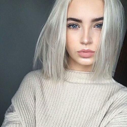 Girl Hair And White Image White Blonde Hair Hair Styles