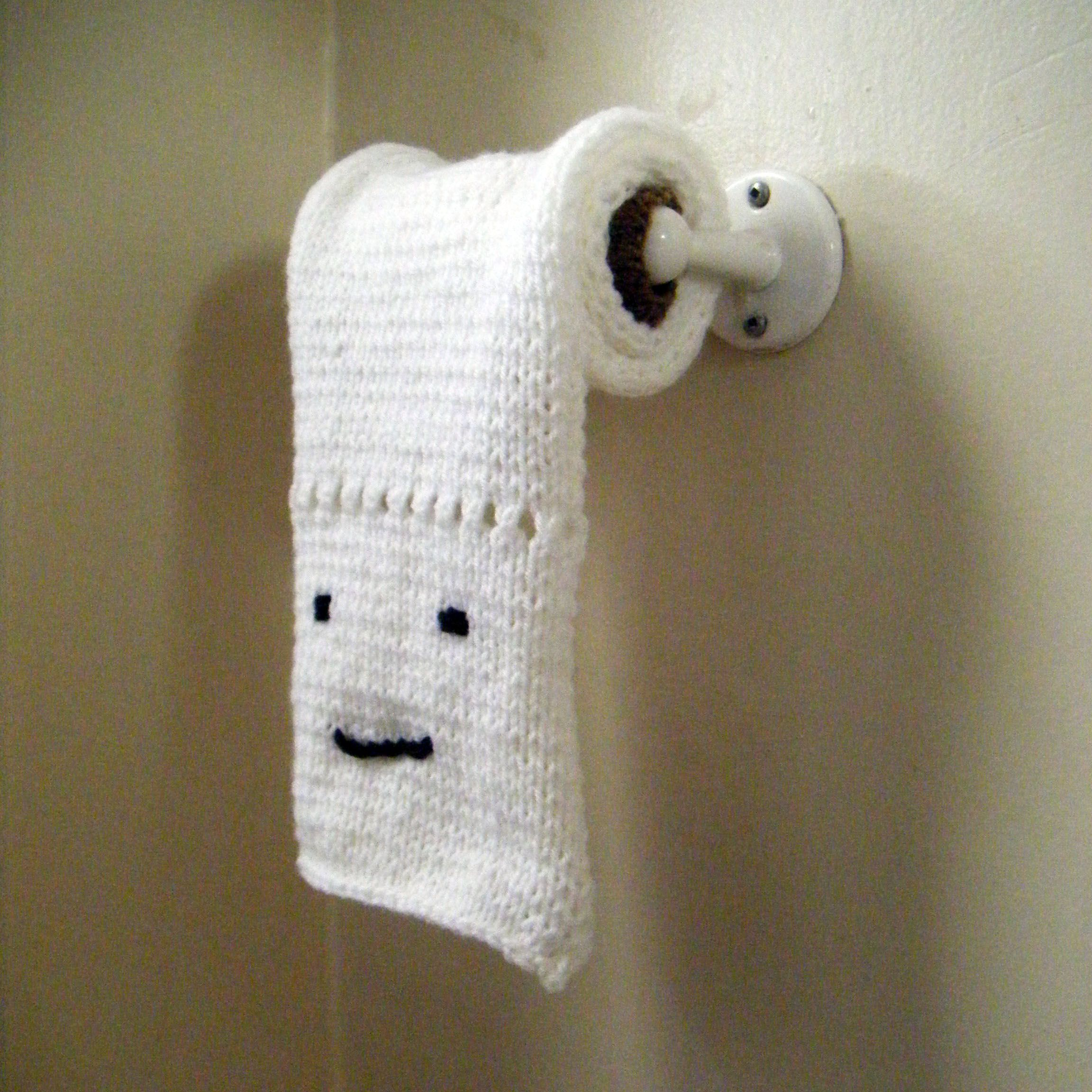 Crazy knit toilet paper. Would you ever make some? ;)
