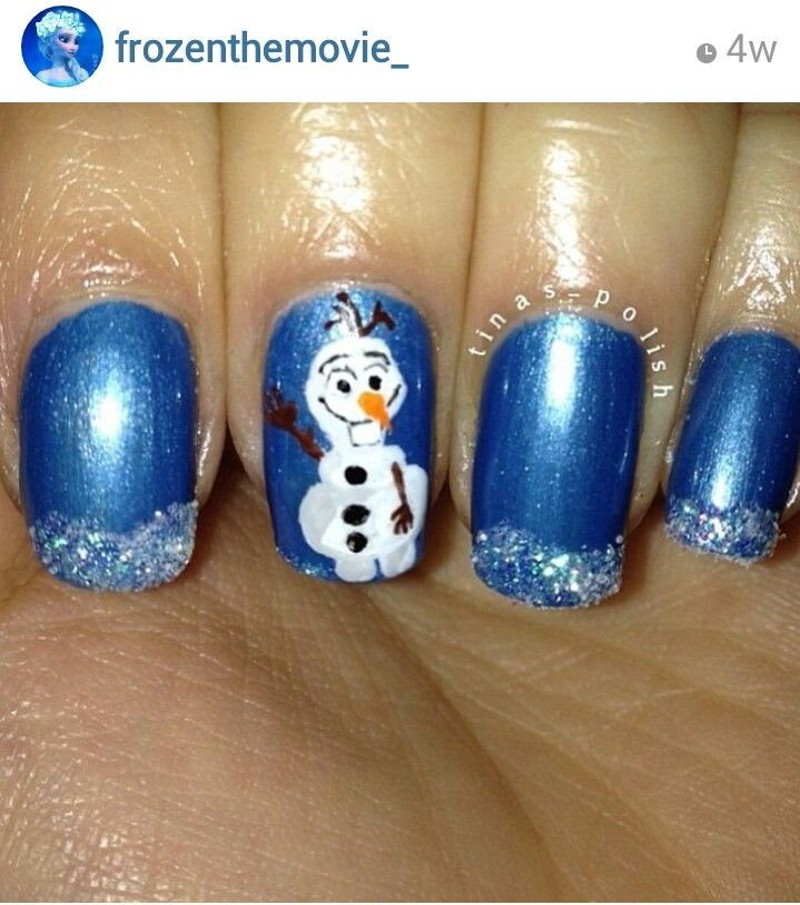 Olaf the snowman nails. Frozen the movie. Not linked ...