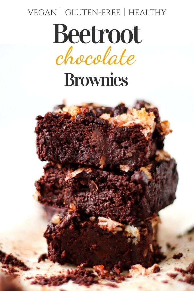 Beet Dark Chocolate Brownies Want some dark chocolate flavor and got the nutrition of beet the same