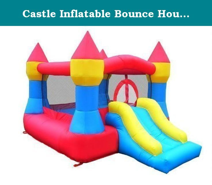 Castle Inflatable Bounce House w/ Slide (12' x 9') Blower Included. Castle Bounce House includes a Bounce Area and a Slide. Material is 420D Oxford Nylon with PVC backing. All materials have been tested to comply with the CPSCIA guidelines for Lead and Phthalates.