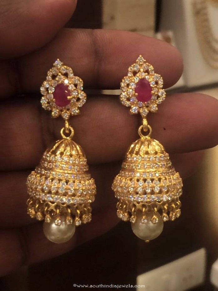 d8060262f 30 Grams Gold Jhumki | Jhumkas Collections | Gold jhumka earrings ...