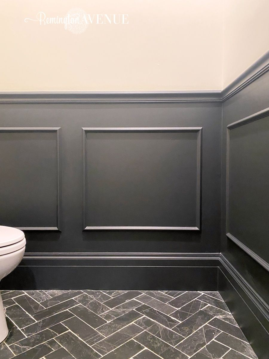 DIY wainscoting Applied molding boxes Wainscoting