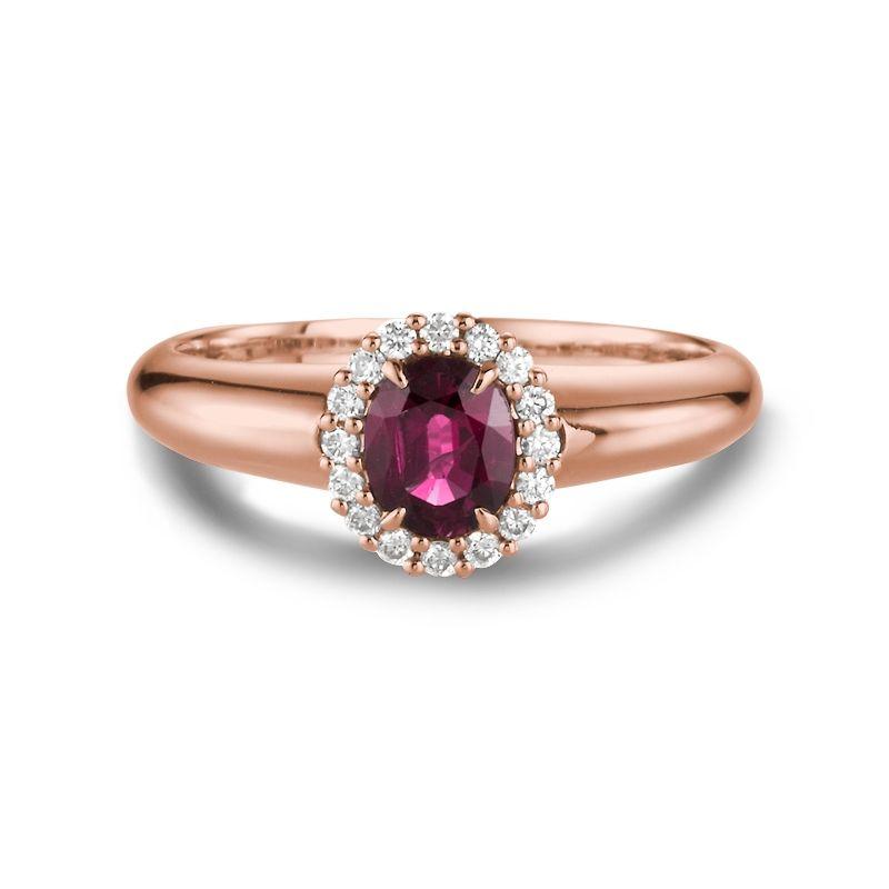 Rubin Rødguldringe  - Ringe med Rubin og DiamantRinge med Rubin og Diamant (Rødguld 585)  Kate