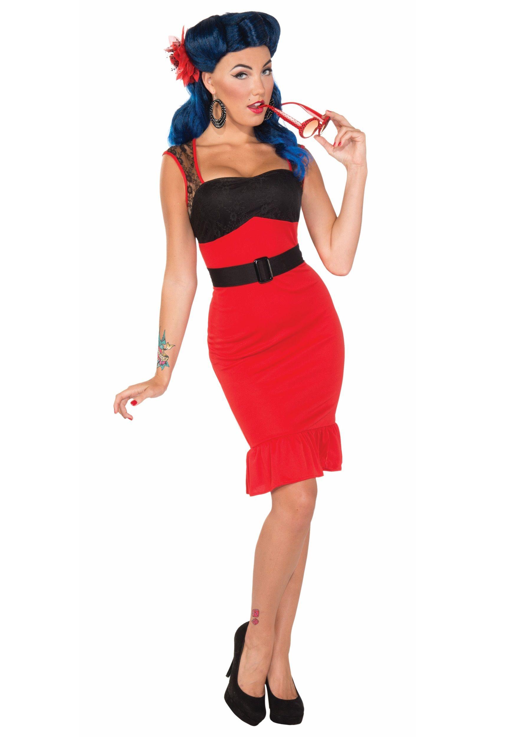 Pin Up Girl 1950s Dress