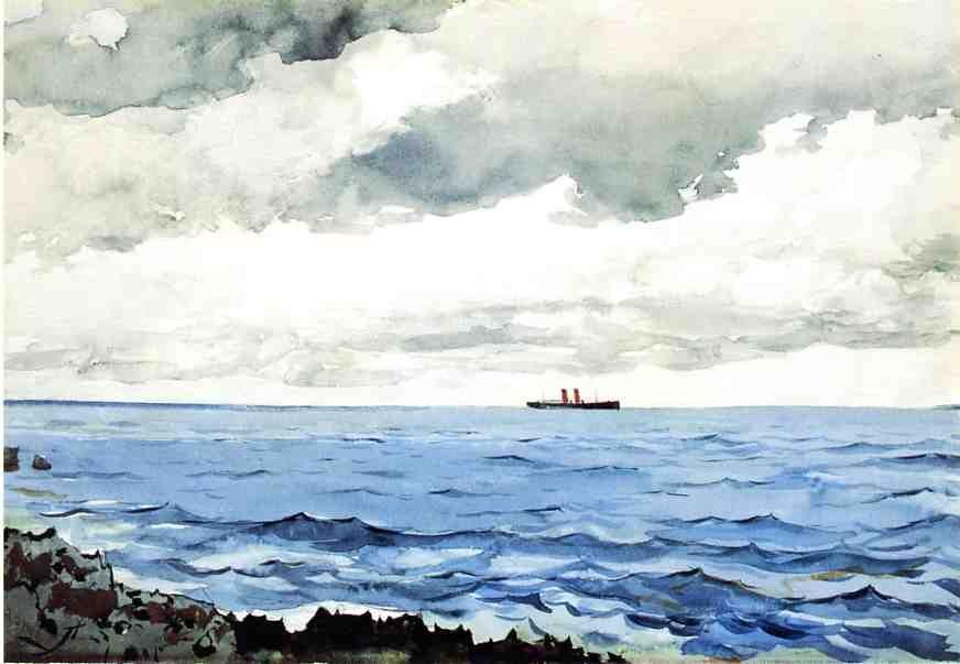 Bermuda Winslow Homer 1901 Watercolor 14 X 20 1 2 Private