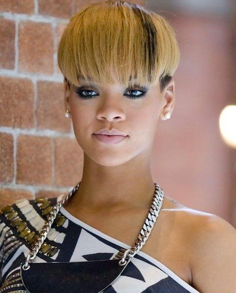 Rihanna Hairstyles Interesting Bowl Cut Rihanna Hairstyles Bowl