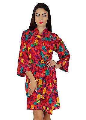 Bimba women red short floral #cotton robe bride bridesmaid #getting #ready coveru,  View more on the LINK: 	http://www.zeppy.io/product/gb/2/201696290876/