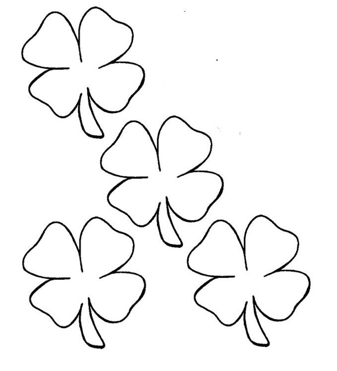Four Leaf Clover Diverse Coloring Page
