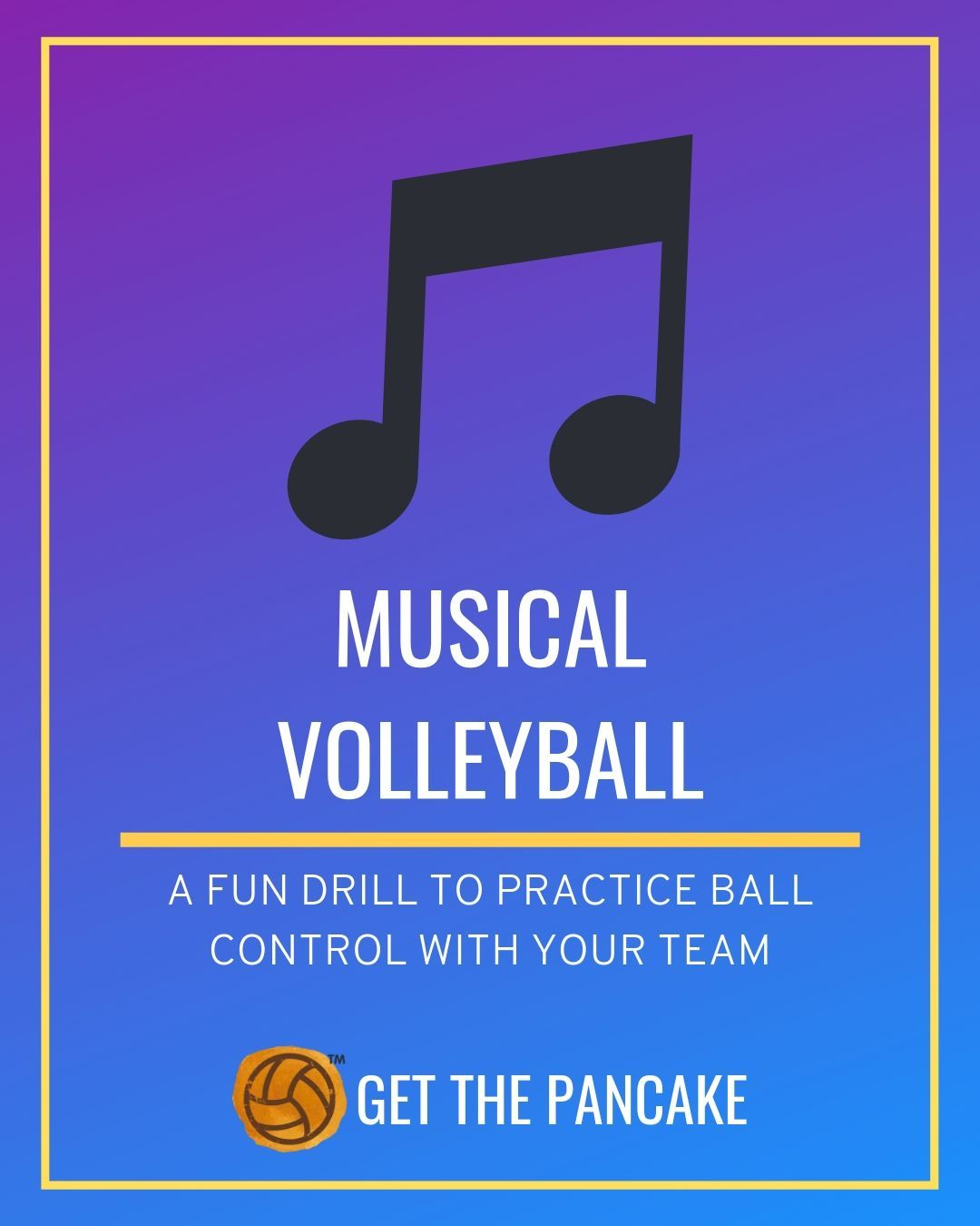 Fun Volleyball Drill For Ball Control Musical Volleyball Volleyball Tips Volleyball Games Coaching Volleyball