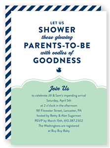 Couples baby shower invitation folded words southern belle in couples baby shower invitation folded words filmwisefo