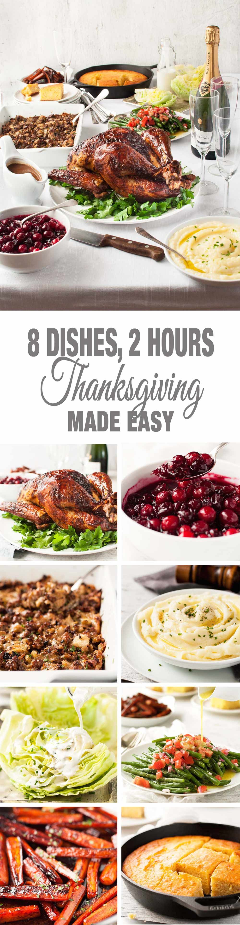 Easy Thanksgiving Menu - 8 dishes, 2 hours, largely make ahead