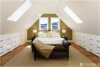 Sloped Ceiling Bedroom Decorating Ideas | Great Design For Sloped Ceilings  Or A Frame Rooms