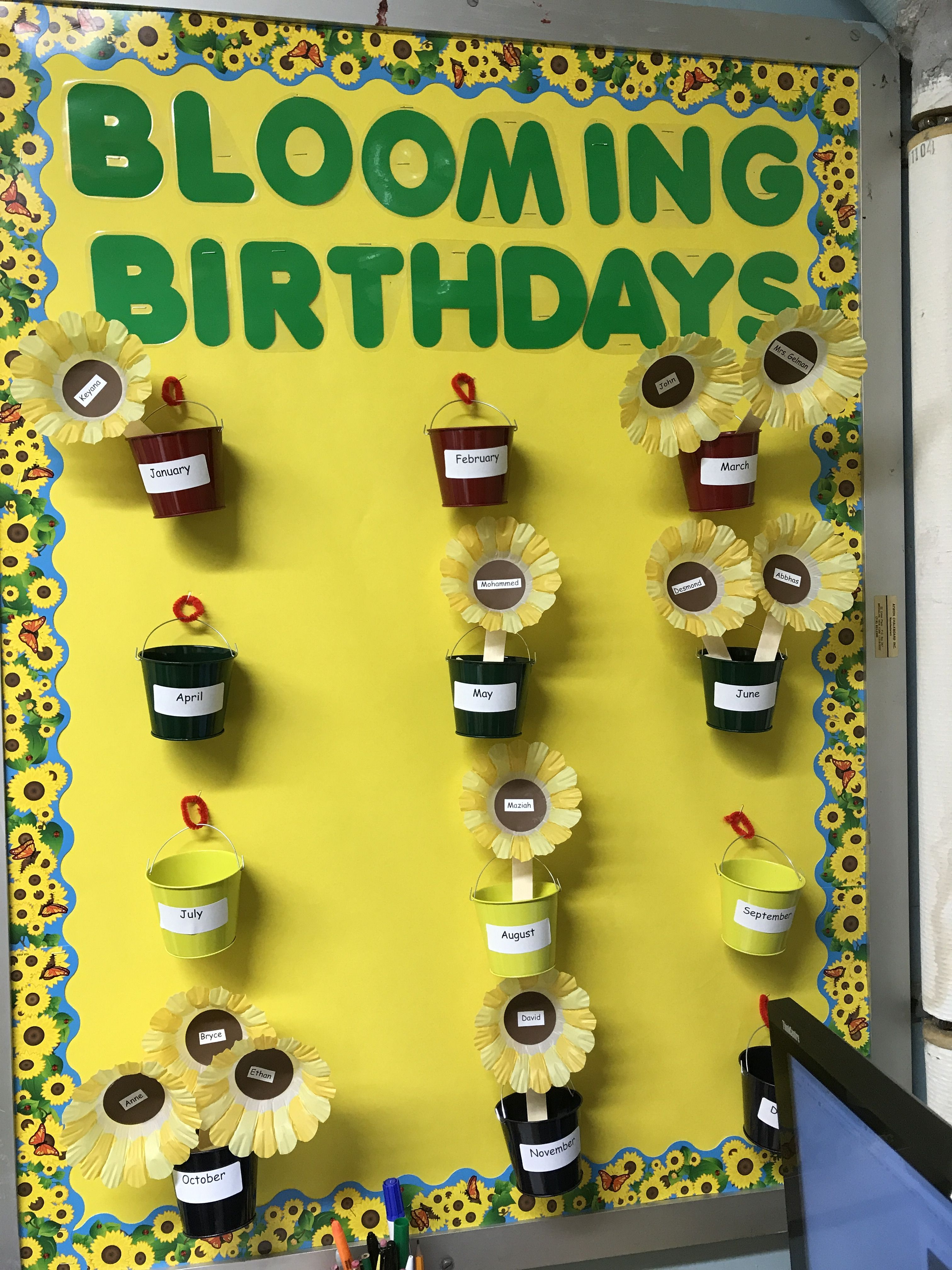 Birthday chart with images birthday charts classroom