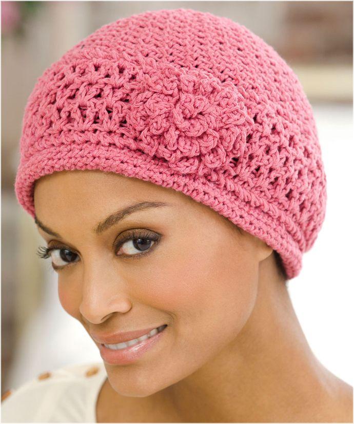 Cherry Chemo Cap Crochet Pattern Crochet Pinterest Crochet