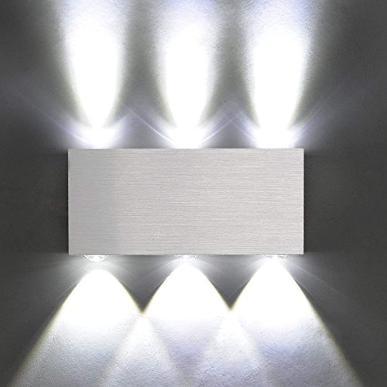 X Sunshine Modern Wall Lamp 6w 6 Led Spot Light Sconce Lighting Convex Mirror Led Wall Sc Living Room Lighting Modern Light Fixtures Bedroom Up Down Wall Light