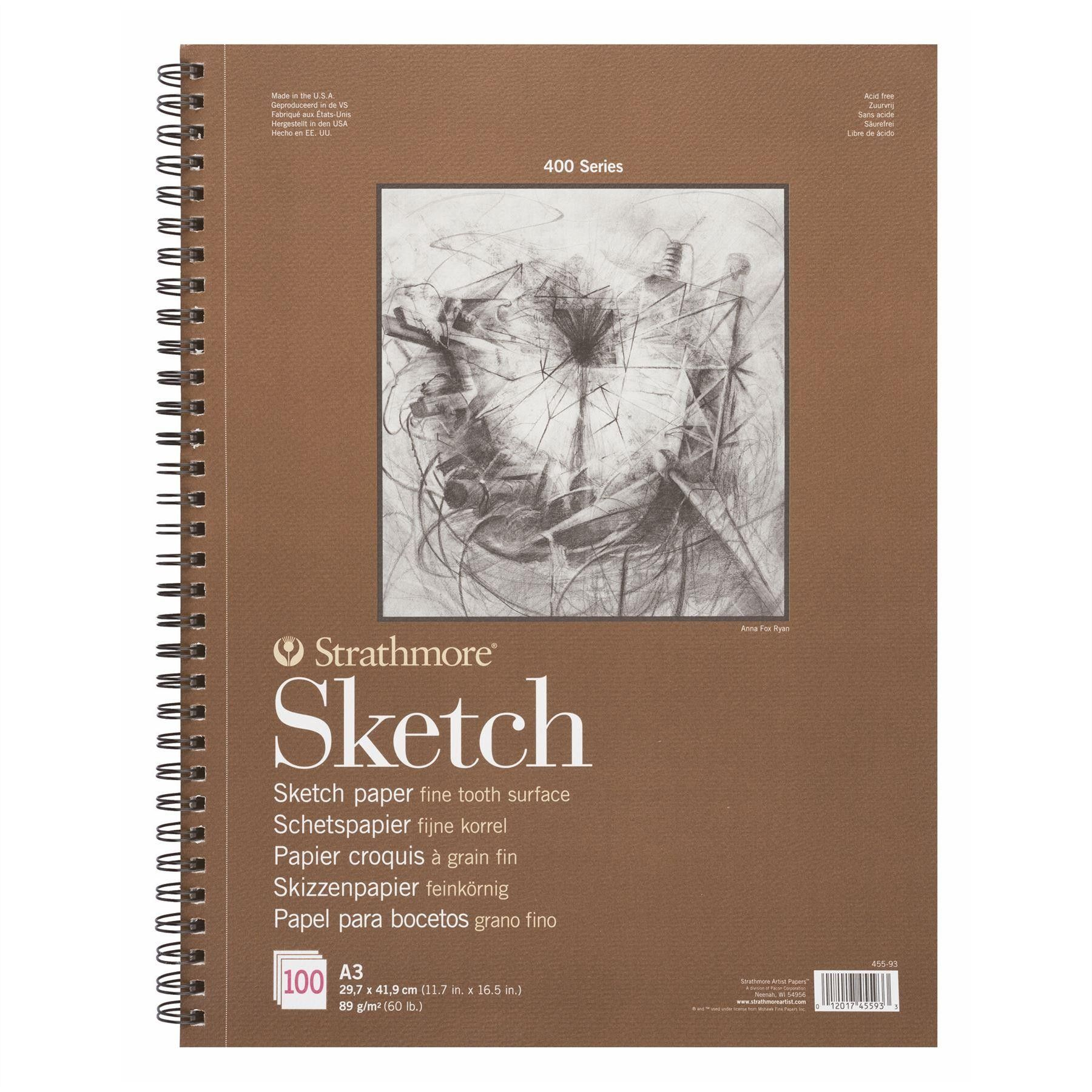 Strathmore 400 Sketch Pad 100 Sheets Of 89gsm Paper Sketch Pad