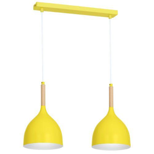 Pendelleuchte Gelb details zu pendelleuchte gelb 2xe27 hängeleuchte beleuchtung neu