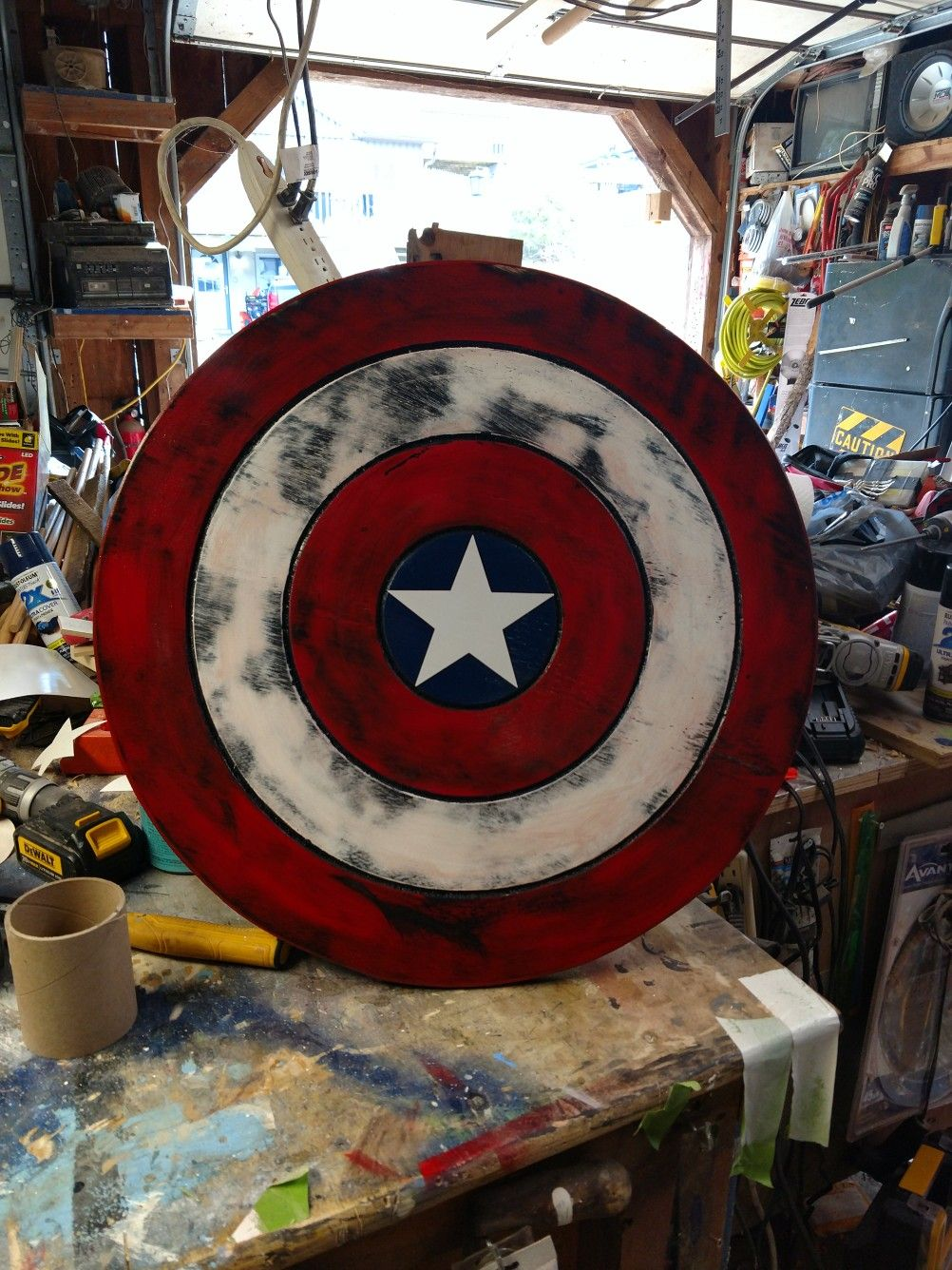 Wood Captain America Shield Project I Made In 2019 Captain