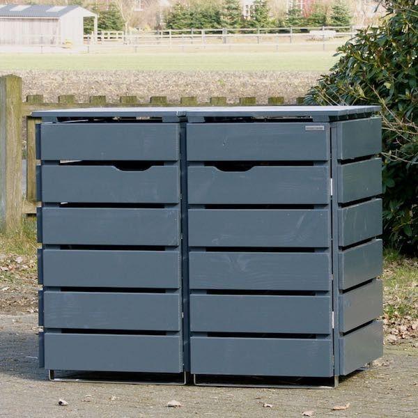 2er m lltonnenbox holz anthrazit grau holz pinterest recyle and gardens. Black Bedroom Furniture Sets. Home Design Ideas