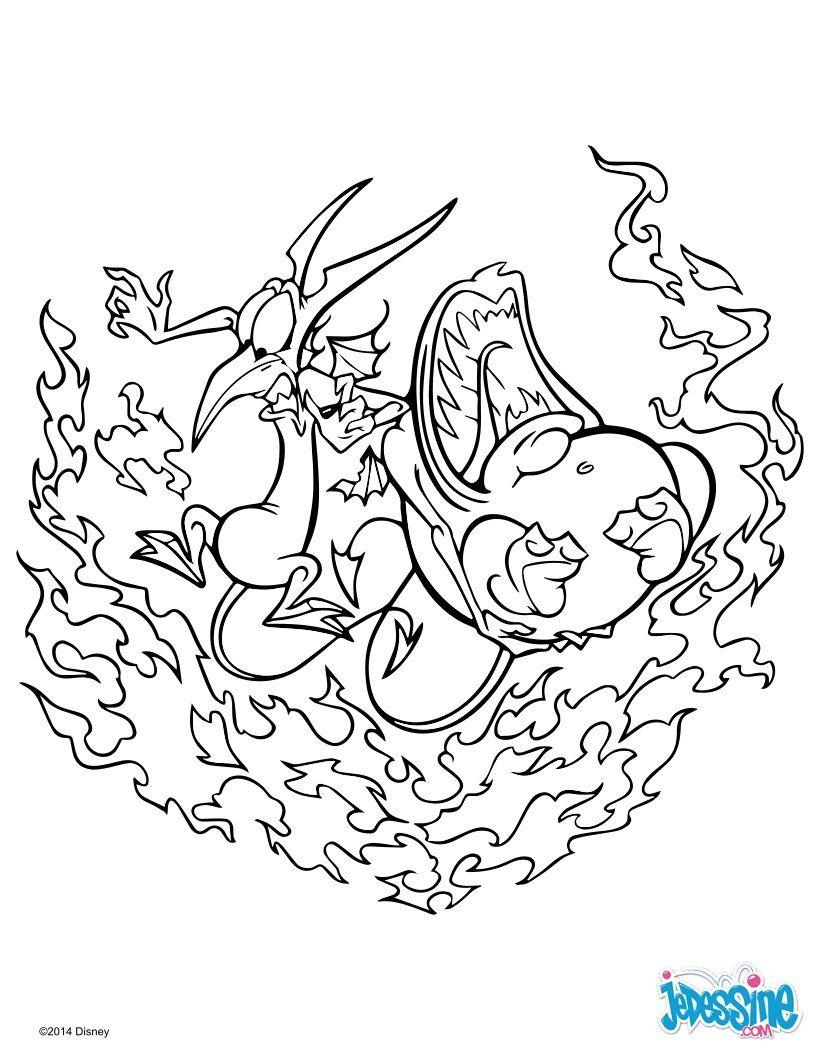 Un joli coloriage sur Hercule avec Peine et Panique. Un dessin