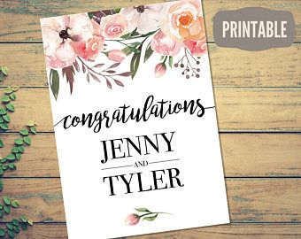 printable personalized wedding card instant download customizable