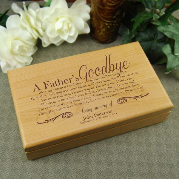 A Father S Goodbye Alder Keepsake Box Keepsake Boxes