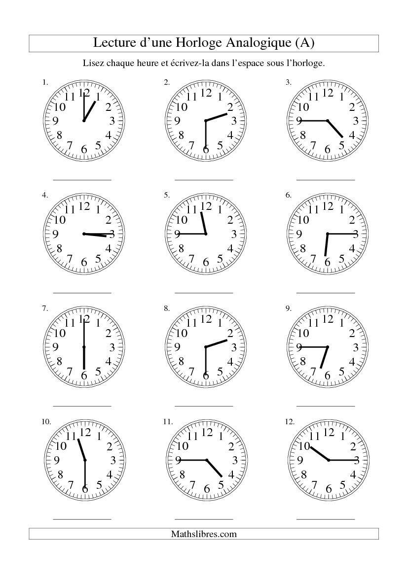 lecture de l 39 heure sur une horloge analogique avec 15 minutes d 39 intervalle tout disponible le. Black Bedroom Furniture Sets. Home Design Ideas