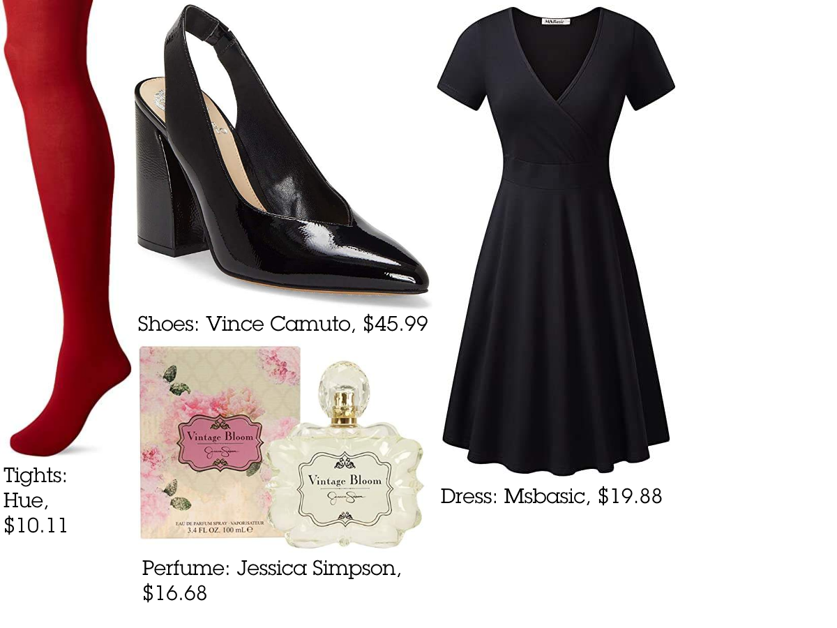 1950s Inspired Outfit Classic Black Dress Outfits Burgundy Midi Dress [ 900 x 1200 Pixel ]