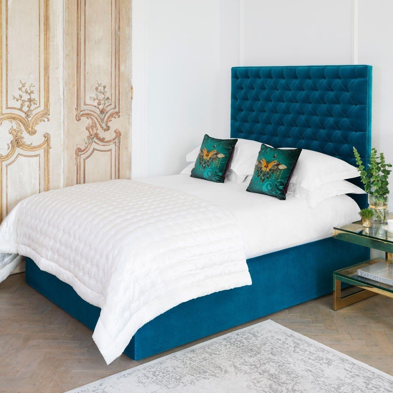 ExDisplay Lockley Bed Kingsize Luxury Velvet Sea