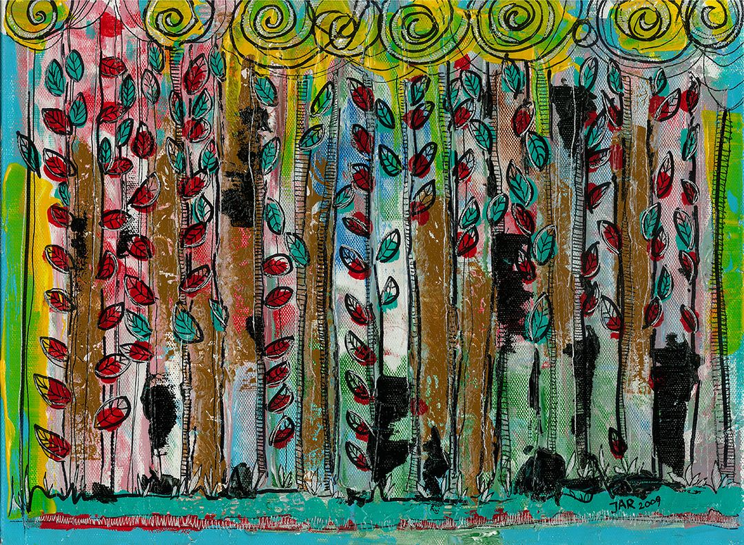 Forest (Acrylic) - 2009 - Arek Jackowski - http://www.jackowskidesign.com/paintings/