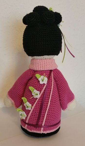 Häkelanleitungen - Häkelanleitung Geisha *SAKURA* japanische Puppe ...