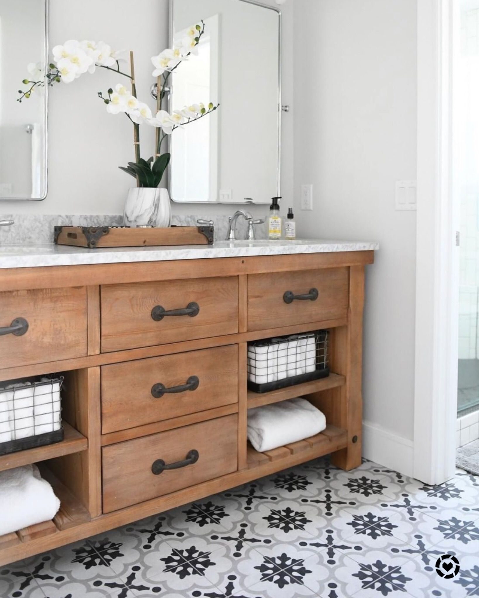 Love This Double Vanity In The Reclaimed Wood Paired With The
