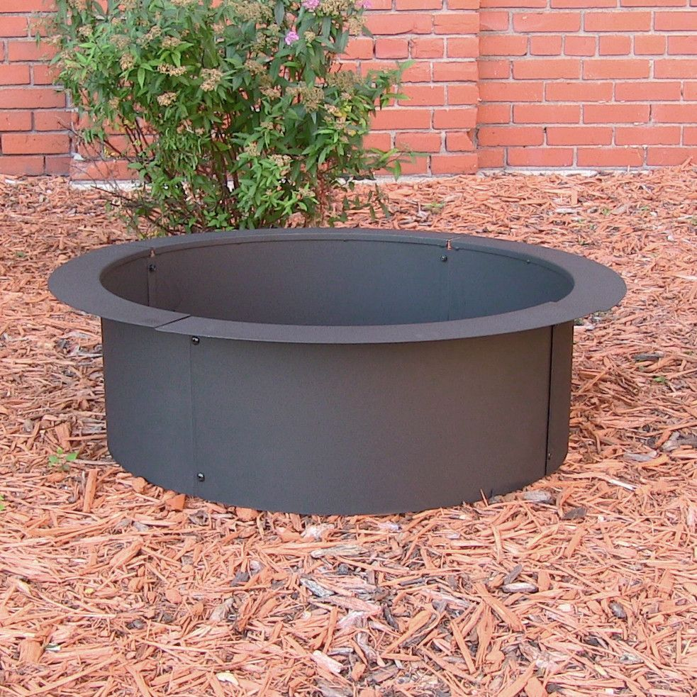 If You Are Into Diy Projects This Fire Pit Rim Is Perfect For Them The Fire Pit Rim Is Made From Durable Stee Wood Fire Pit In Ground Fire Pit Fire