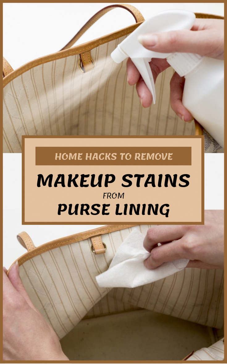 Home Hacks To Remove Makeup Stains From Purse Lining in