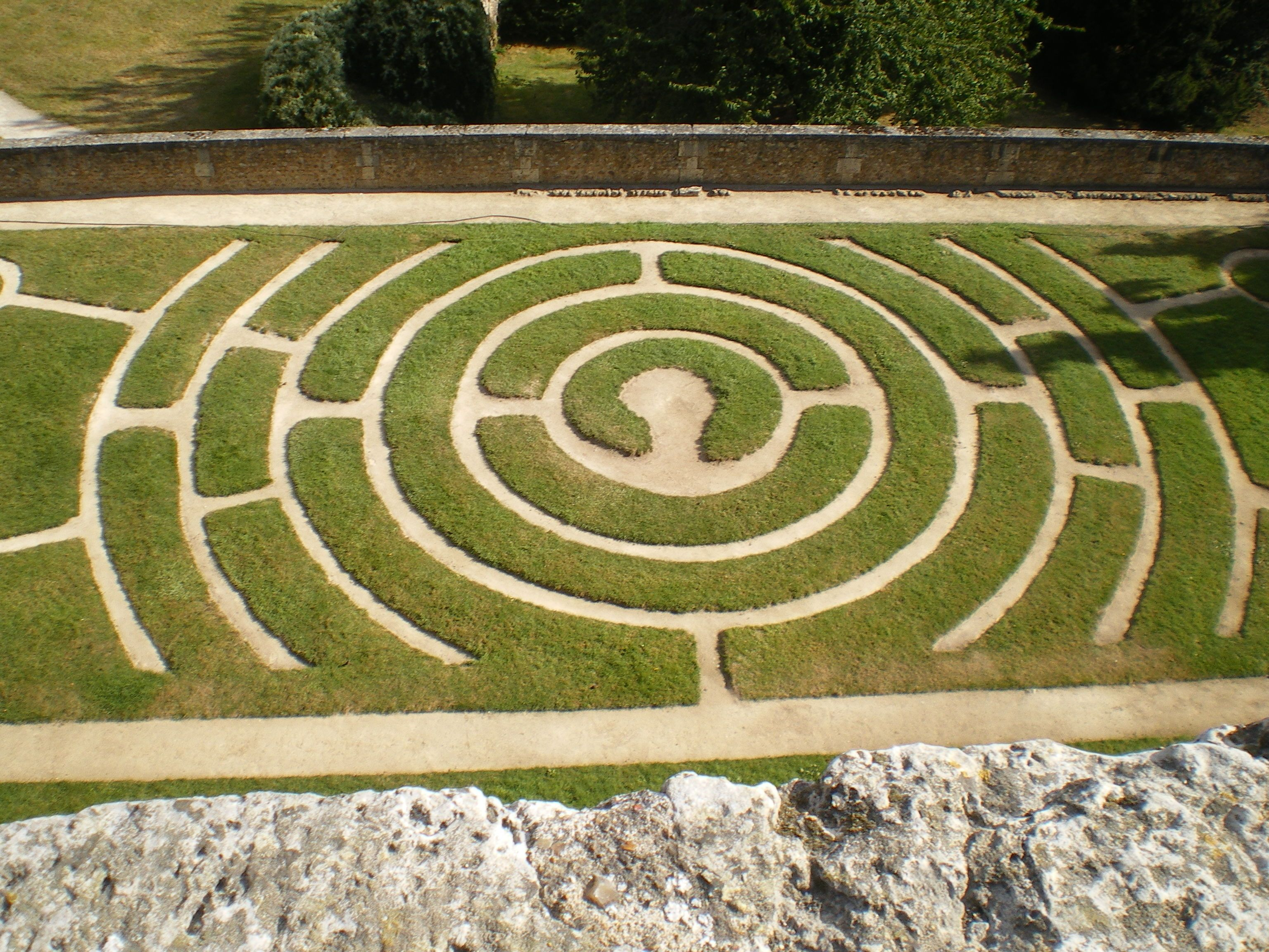Outdoor Labyrinth At Chartres Cathedral