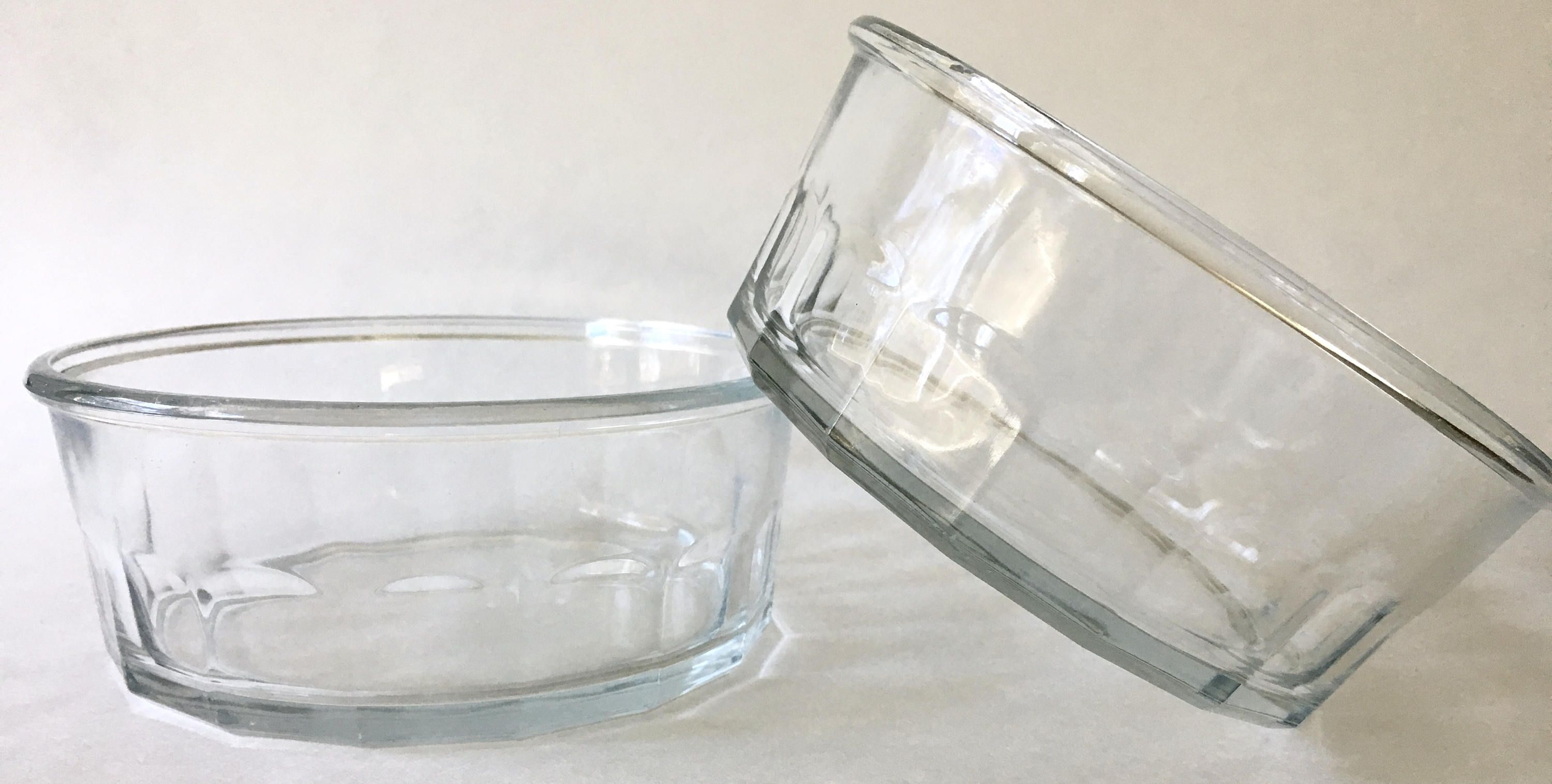 Pampered Pet Pressed Glass Faceted Glass Food Bowl Food Dish