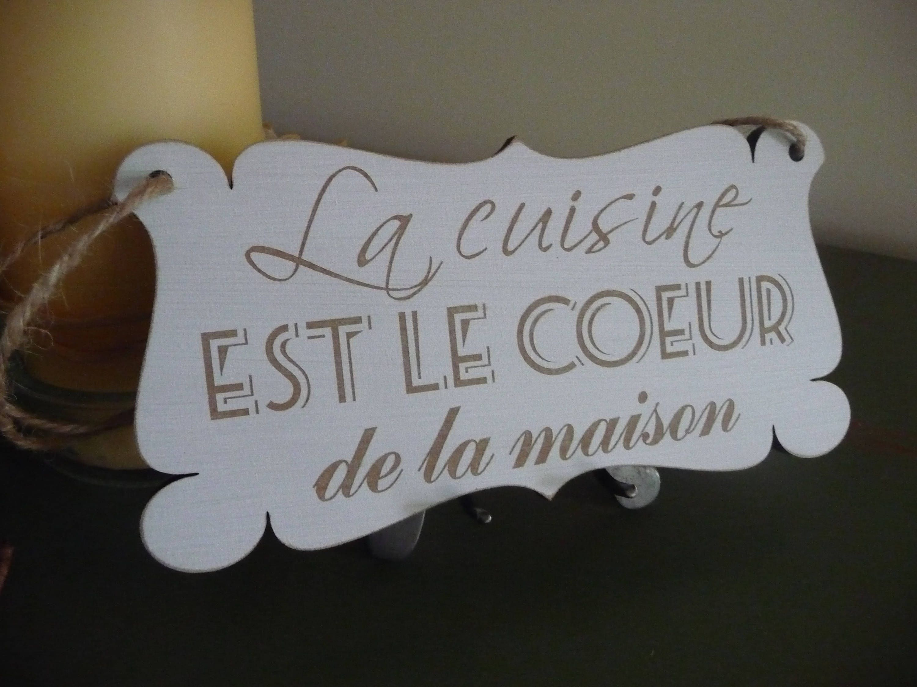 French Kitchen Sign, La Cuisine... Sign, French Wall Decor, Wooden