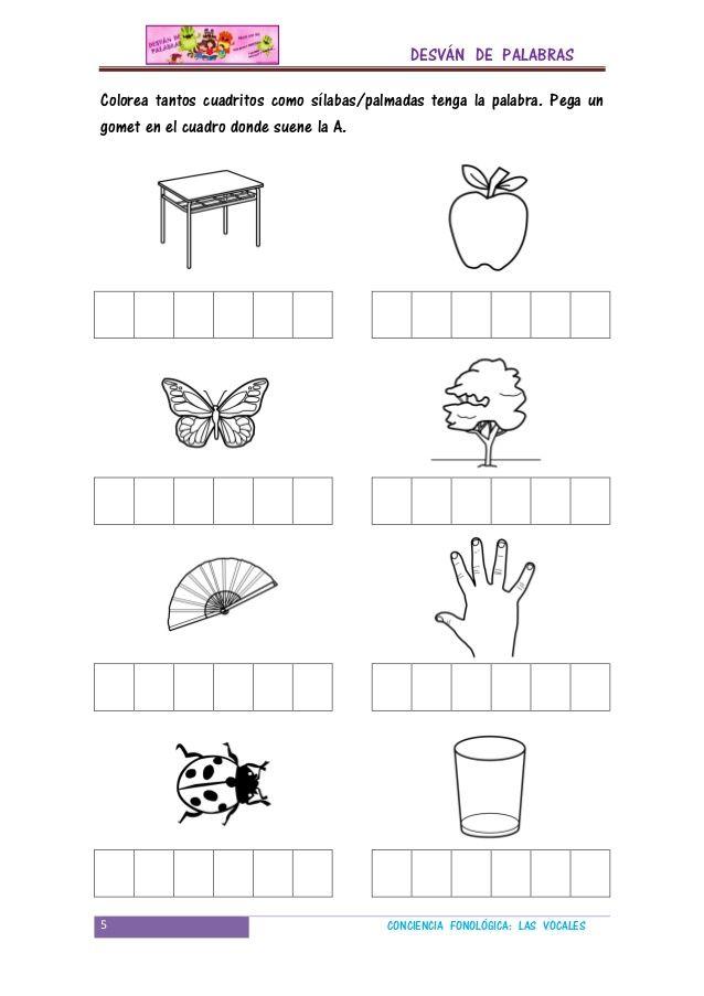 Conciencia fonologica vocales | lectura | Pre kinder