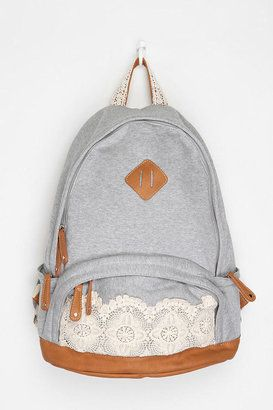 1918683054 ShopStyle: Kimchi Blue Lace & Jersey Backpack This would be awesome for  college. Always stylin!