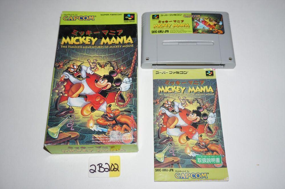 MICKEY MANIA Japanese Authentic Super Famicom Nintendo SNES