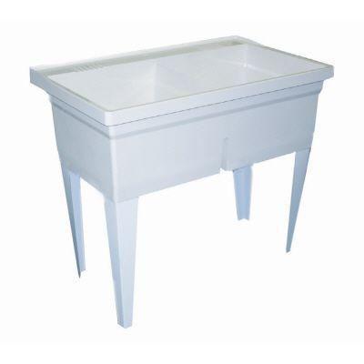 Crane Laundry Tub 40 X 24 Floor Mounted White Fltdii100 At The