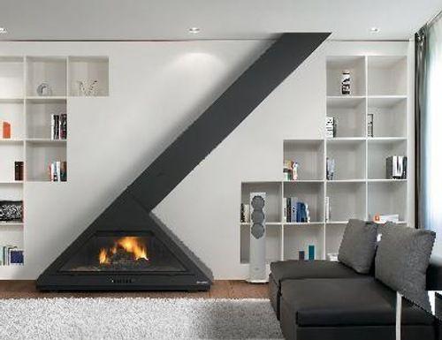 Modernas Chimeneas de Diseño Moderno, Casas modernas y Modelo de