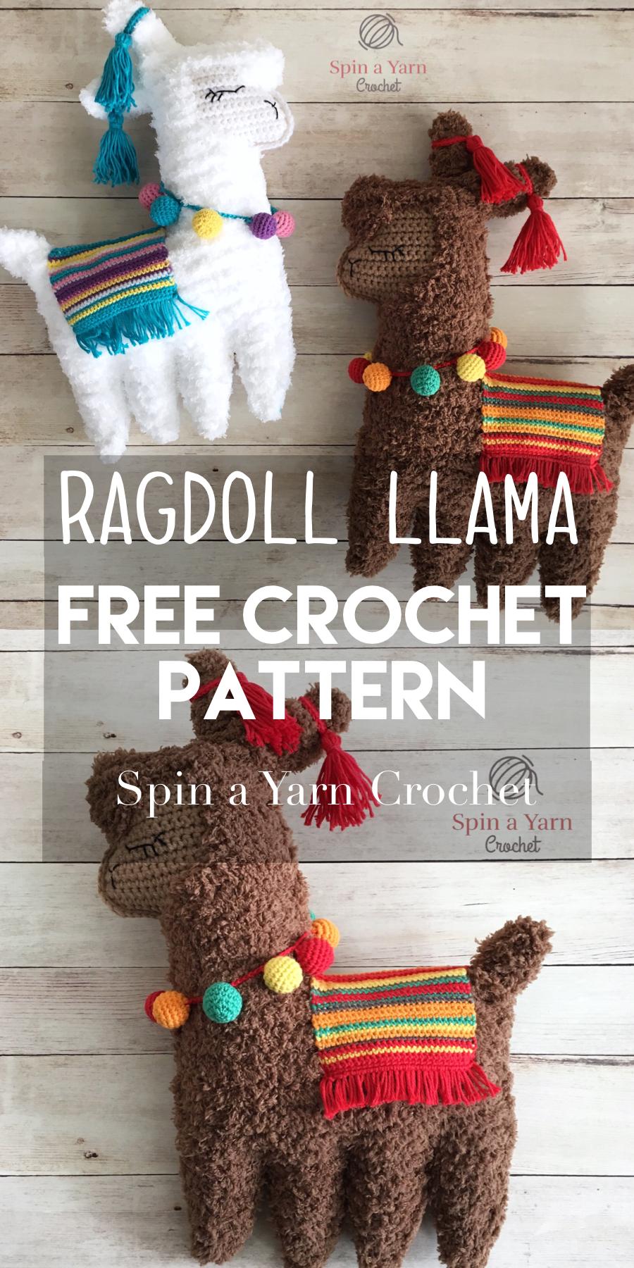 Ragdoll Llama Free Crochet Pattern | Häkeln, Stricken und Stricken ...