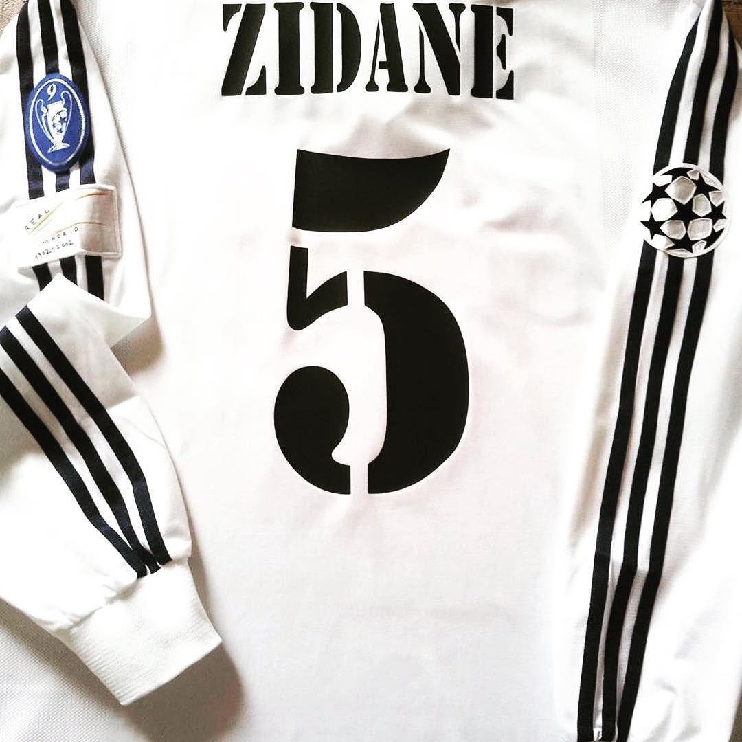 meet f65cb 5ce5c 2002/03 Real Madrid Home Champions League Shirt Zidane #5 (L ...