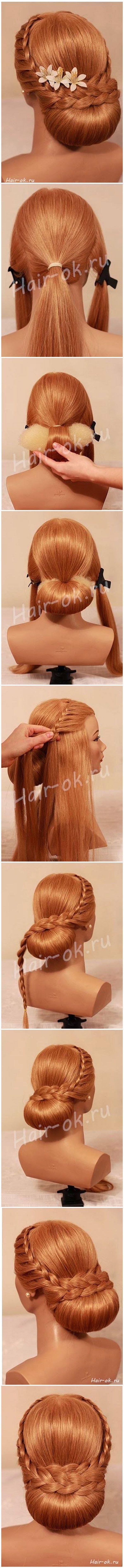 Diy elegant evening braid hairstyle hairstyle pinterest braid
