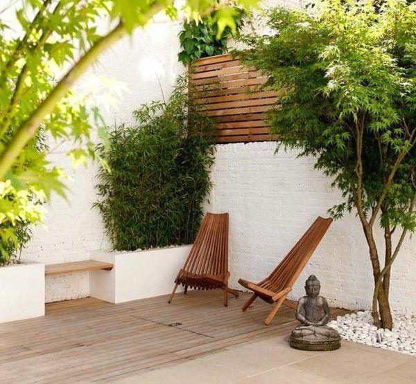 D coration avec un rable japonais patio contemporain - Deco japonaise jardin ...