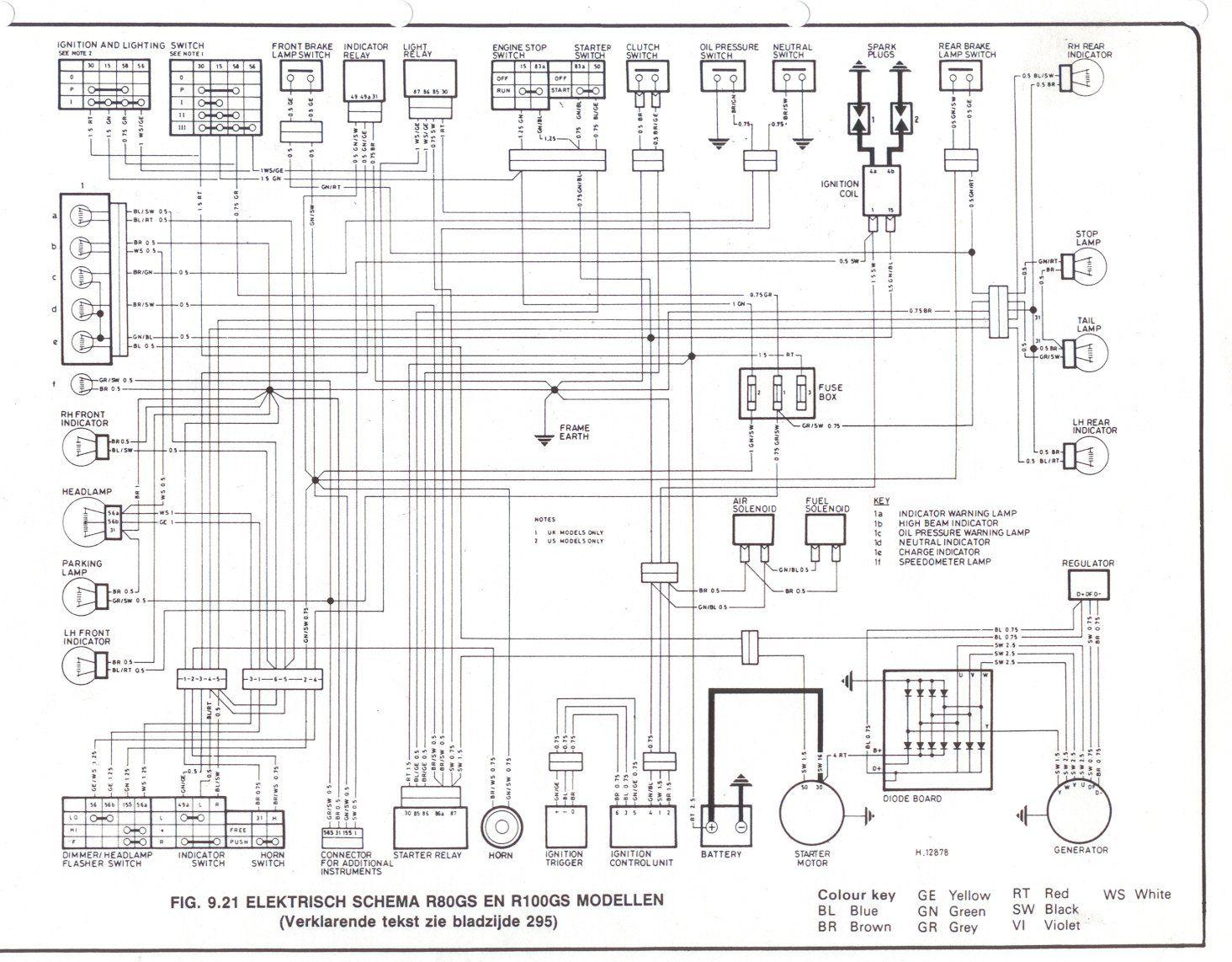 bmw motorcycle r1150rt wiring diagrams