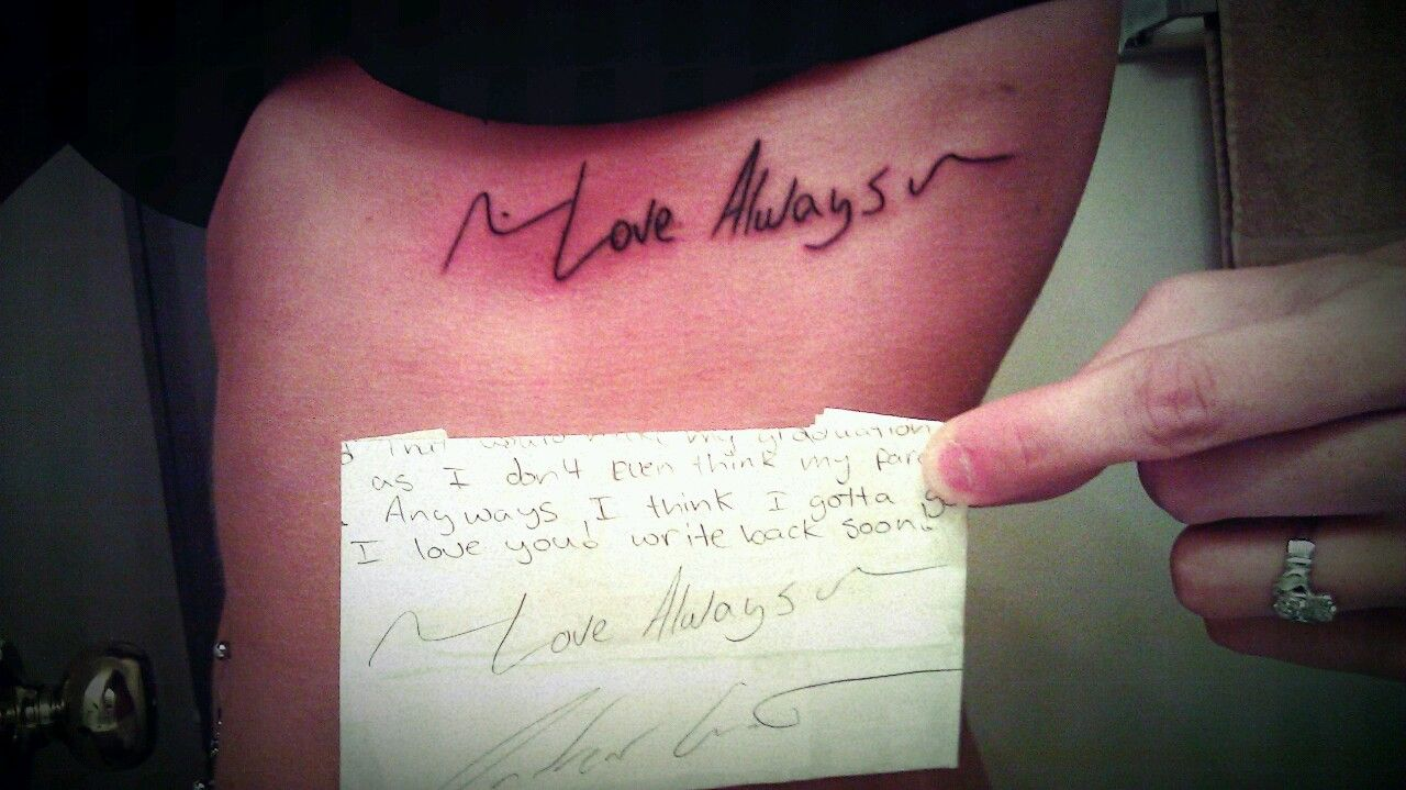 His hand writing for a tattoo 3