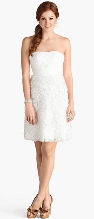 Donna Morgan - 'Giuliana' Rosette Detail Strapless Chiffon Dress